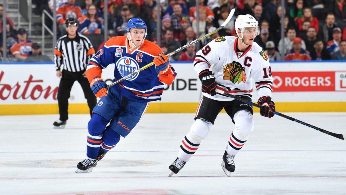 NHL Blackhawks Oilers