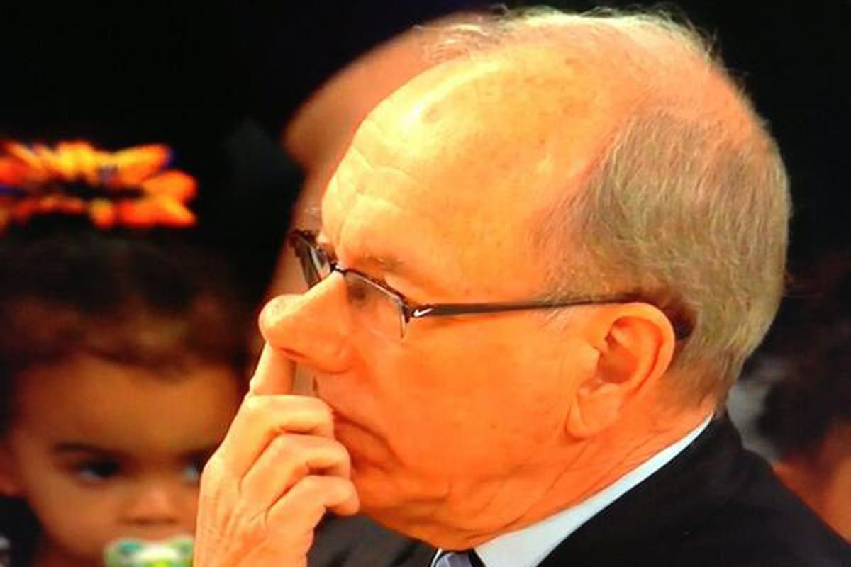 Digging for Gold: Will Syracuse's Jim Boeheim Pick His Nose Tonight?