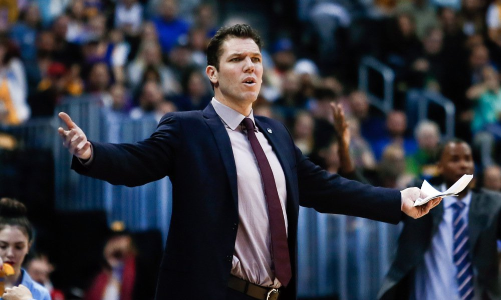 Jan 13, 2016; Denver, CO, USA; Golden State Warriors interim head coach Luke Walton reacts to a play in the fourth quarter against the Denver Nuggets at the Pepsi Center. The Nuggets defeated the Warriors 112-110. Mandatory Credit: Isaiah J. Downing-USA TODAY Sports